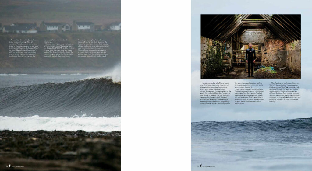 Pacific longboarder page spread